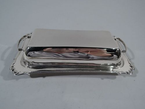Old Fashioned American Sterling Silver Butter Dish