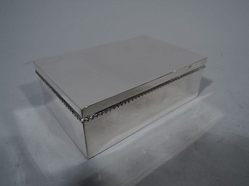 American Hand Made Smart and Modern Sterling Silver Box