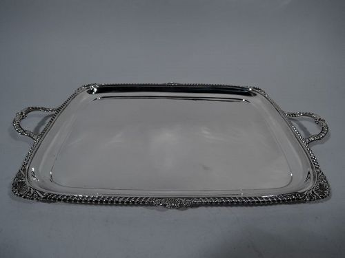 Antique English Georgian Sterling Silver Serving Tray 1931