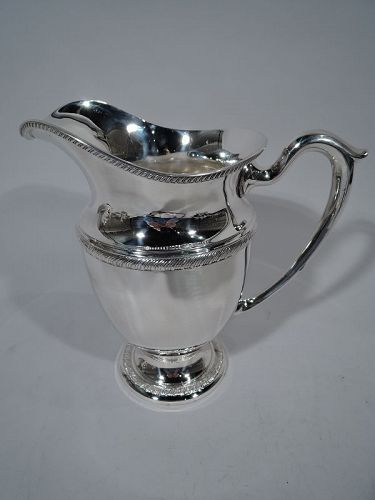 Traditional American Sterling Silver Water Pitcher