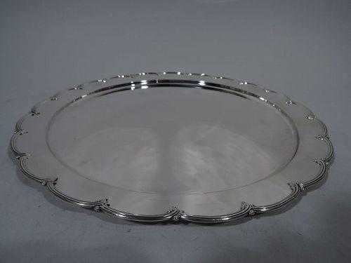 Antique Edwardian Sterling Silver Petal Tray by Tiffany