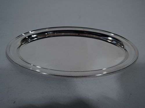 Gorham Modern Sterling Silver Oval Tray
