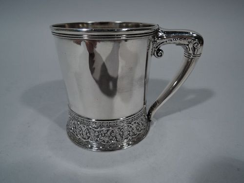 Antique Gorham Aesthetic Sterling Silver Baby Cup 1883