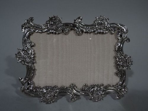 Antique Rococo Revival Sterling Silver Picture Frame by Shiebler