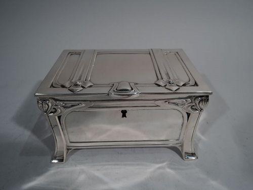 Austrian Jugendstil Silver Casket Box