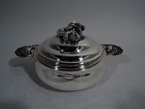 Early Georg Jensen Sterling Silver Covered Serving Dish