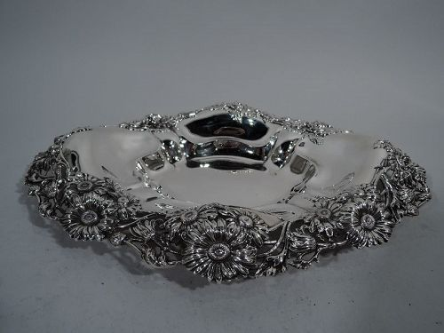 Antique American Sterling Silver Daisy Bowl C 1890