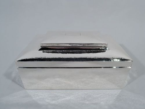 Antique Tiffany Large Hand-Hammered Sterling Silver Jewelry Box
