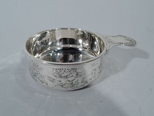Antique American Kerr Sterling Silver Children of the World Porringer