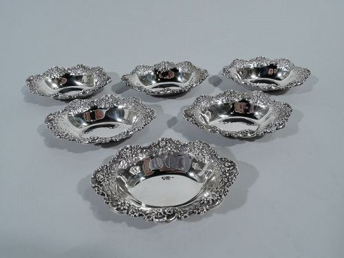 Set of 6 Kirk Sterling Silver Nut Dishes