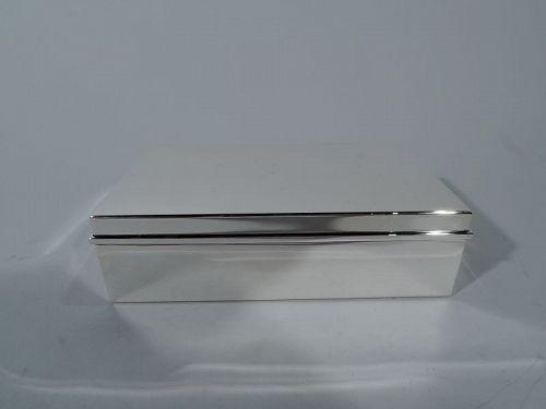 Tiffany Smart & Modern Sterling Silver Desk Box