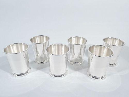 Set of 6 Preisner Sterling Silver Mint Julep Cups