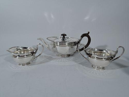 Antique Scottish Sterling Silver Regency Revival Tea Set 1923