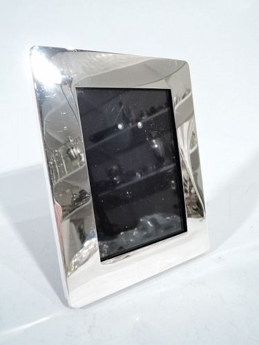 Striking Modern Sterling Silver Picture Frame