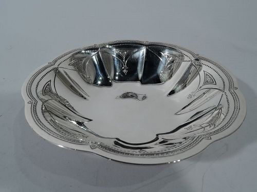 Tiffany Art Deco Sterling Silver Petal Bowl C 1923