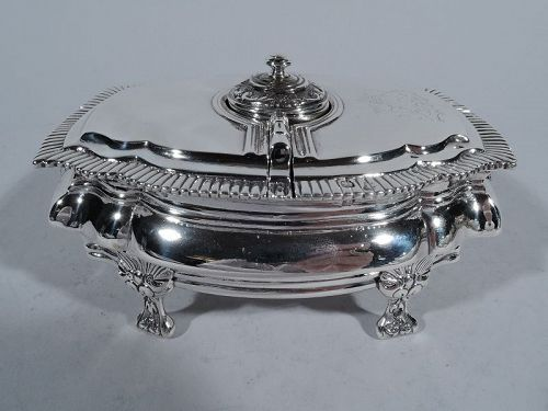 French Classical Silver Spice Box with Nutmeg Grater after the Antique