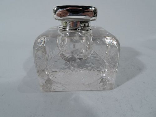 Antique Tiffany Edwardian Sterling Silver Inkwell
