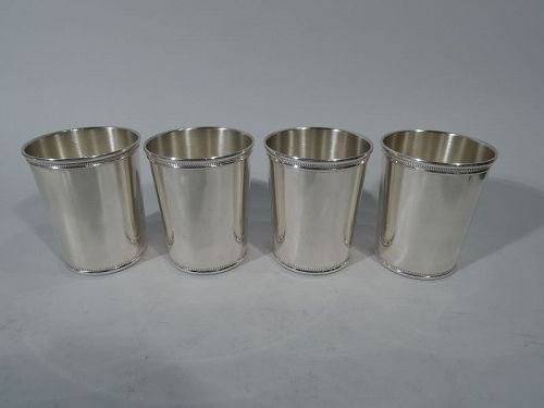 Set of 4 Tiffany Sterling Silver Mint Julep Cups