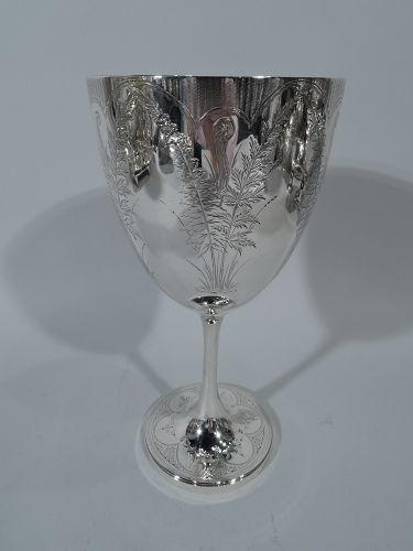 Pretty Antique English Sterling Silver Goblet 1872