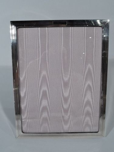 Smart American Art Deco Modern Sterling Silver Picture Frame