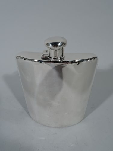 Tiffany Art Deco Sterling Silver Flask with Room for Engraving