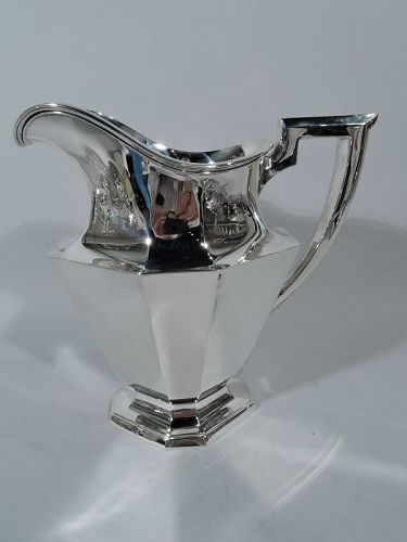 Antique Gorham Art Deco Modern Sterling Silver Water Pitcher