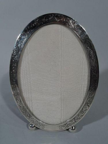 Antique Gorham Edwardian Sterling Oval Picture Frame