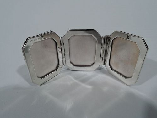 Cartier Modern Sterling Silver Traveling Triple Picture Frame