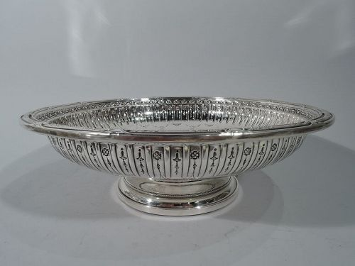 Gorham Sterling Silver Footed Bowl in Marie Antoinette Pattern