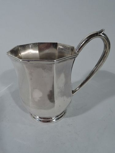 Antique Coin Silver Baby Cup by New York Maker Bogert