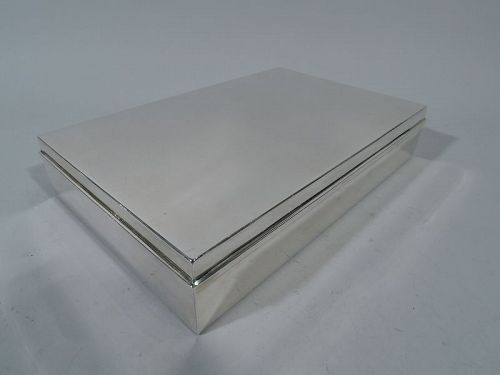 Classic Large Sterling Silver Box by Tiffany