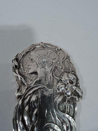 Antique American Art Nouveau Sterling Silver Letter Opener