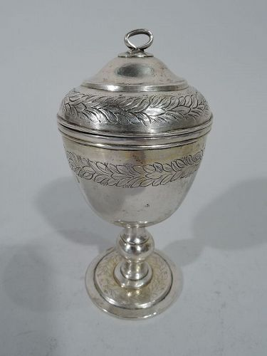 Antique Chinese Silver Covered Cup 19th Century