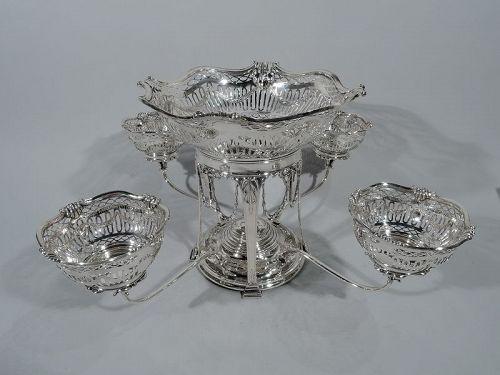 Antique Scottish Regency Revival Sterling Silver Epergne 1912