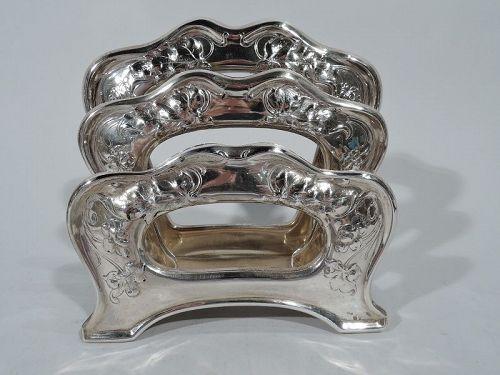 Antique Gorham Art Nouveau Sterling Silver Letter Rack