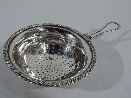 Antique European Silver Strainer C 1840
