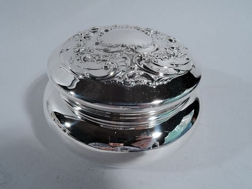 Old Fashioned Sterling Silver Trinket Box by Gorham