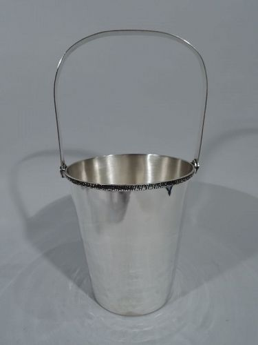 Modern Japanese Silver Ice Bucket