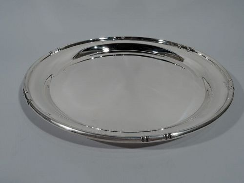 Cartier Midcentury Modern Sterling Silver Tray in Bamboo Pattern