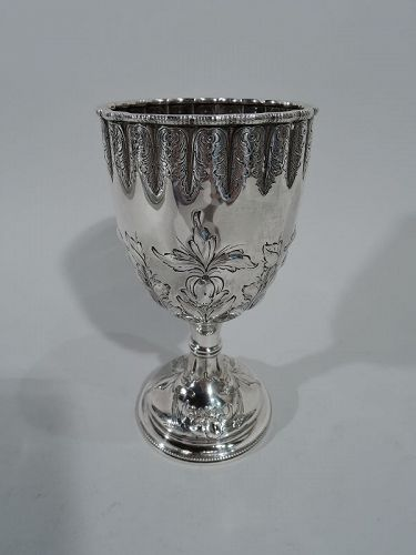 Antique Tiffany Sterling Silver Goblet with Early Broadway Hallmark