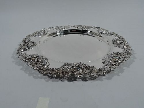 Large and Fancy Bailey, Banks & Biddle Sterling Silver Tray
