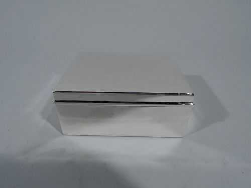Tiffany Modern Sterling Silver Desk Box