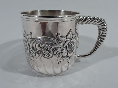 Pretty Antique Whiting Sterling Silver Baby Cup