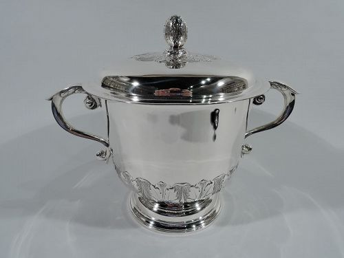 Elegant Georgian-Style Sterling Silver Covered Trophy Cup