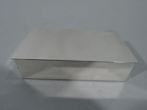 Tiffany Midcentury Modern Sterling Silver Table Box
