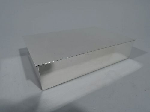 Tiffany Midcentury Modern Sterling Silver Box