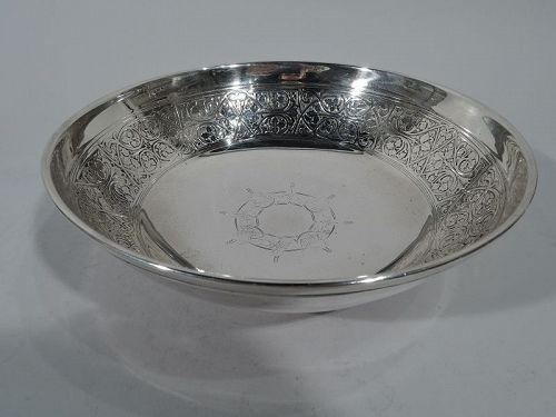 Antique Tiffany Edwardian Sterling Silver Footed Bowl
