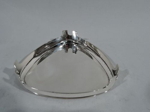 Super Stylish Sterling Silver Ashtray by Bulgari