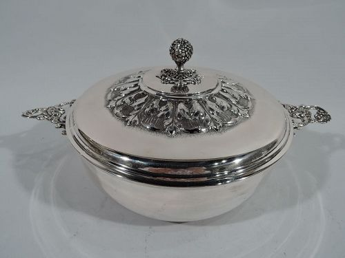 Italian Silver Covered Vegetable Serving Dish