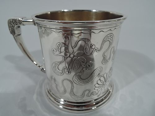 Stylistically Advanced Art Nouveau Sterling Silver Baby Cup by Whiting